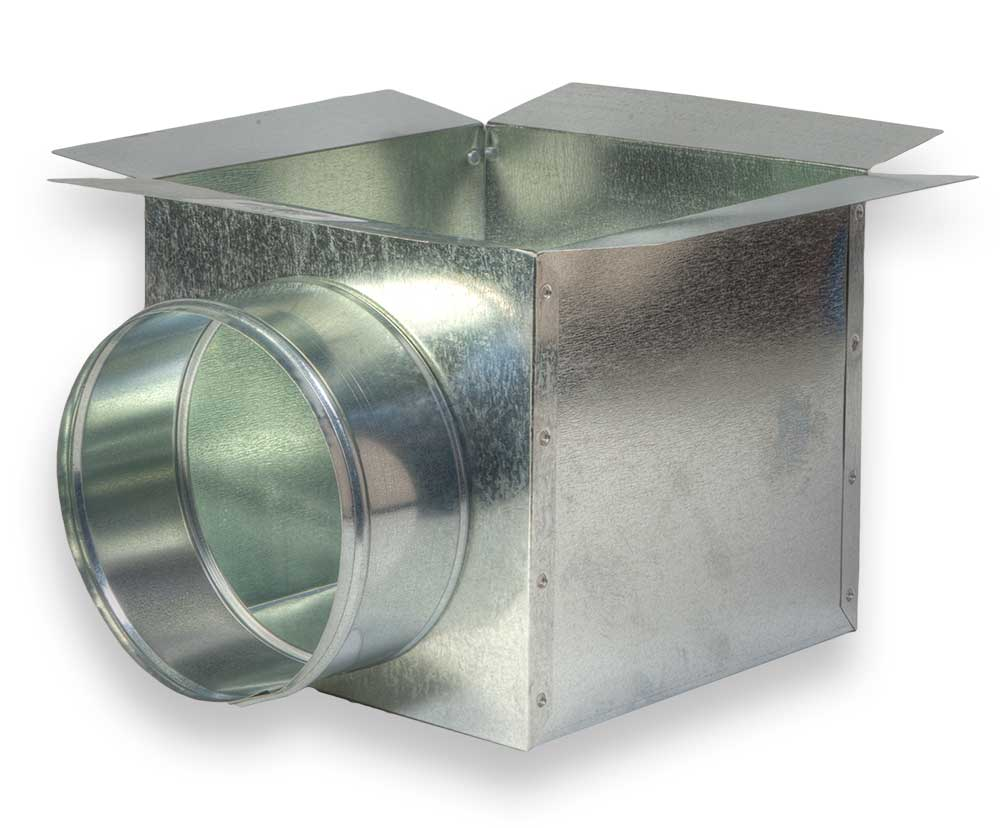 66 Side Round Ceiling Box Zm Sheet Metal Inc