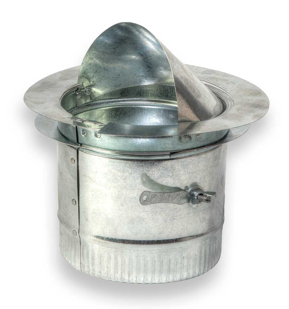 Product 125 Duct Board Spin Fitting 45 Scoop W Damper